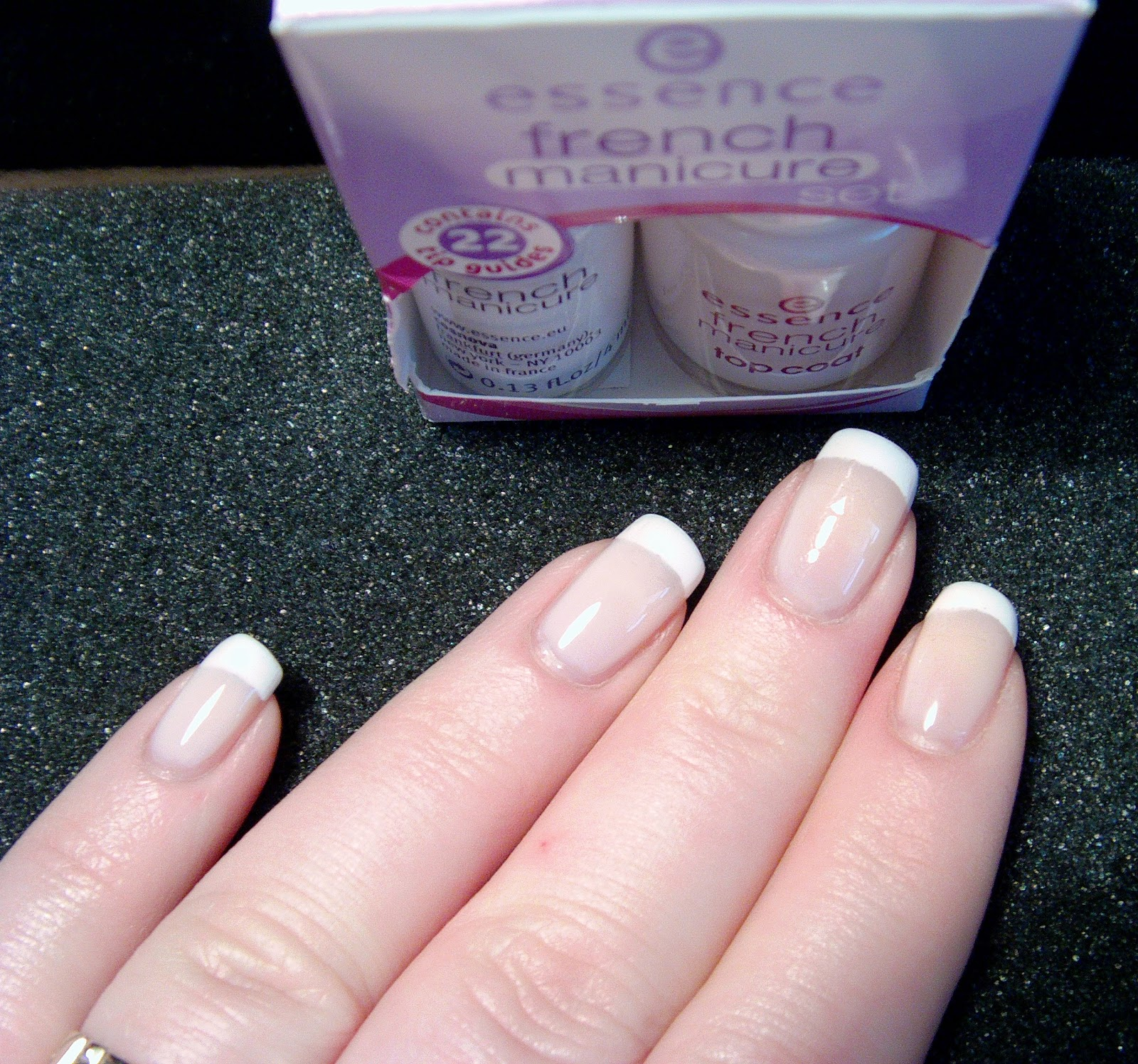all about nails french manicure with new essence french manicure set express dry drops. Black Bedroom Furniture Sets. Home Design Ideas