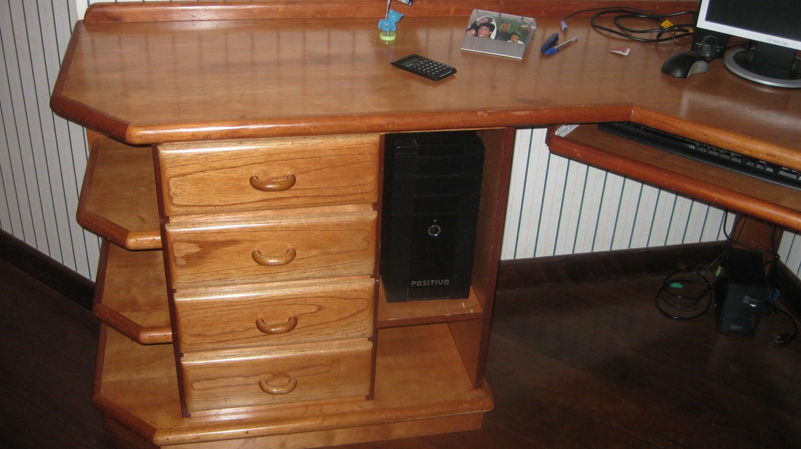 Vendo Tudo QL12: Escrivaninha para computador Mogno 4 portas R$280 00 #774023 1600x898