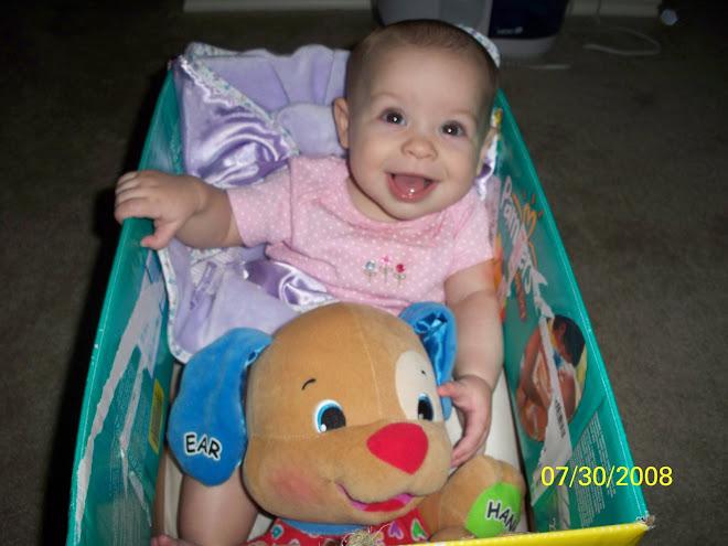 Playin in her diaper box car