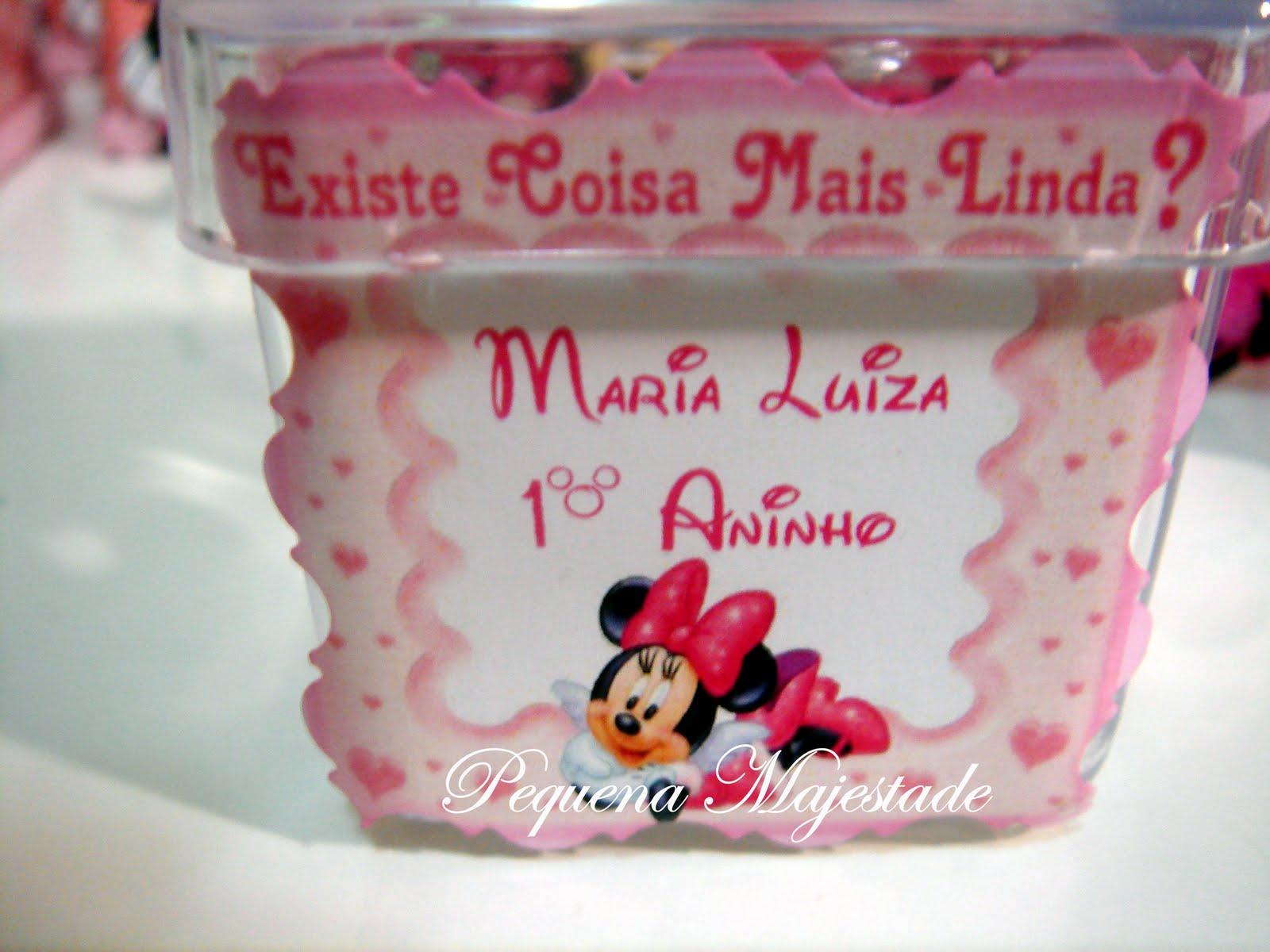 Porta Guardanapos    Mini Potinhos De Guloseimas Minnie Rosa 4 5 X 4 5
