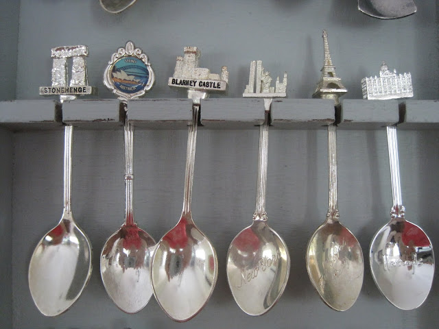 spoon rack, Vintage Spoon Rack Makeover, Natasha in Oz, spoon collection,