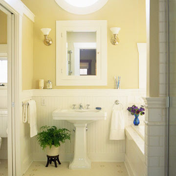 Wainscoting inspiration and decorating ideas for Wainscoting bathroom ideas