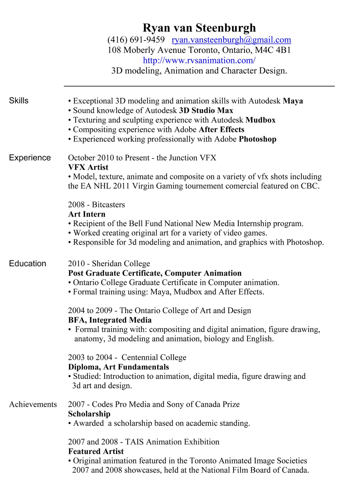 Resume spotty work history