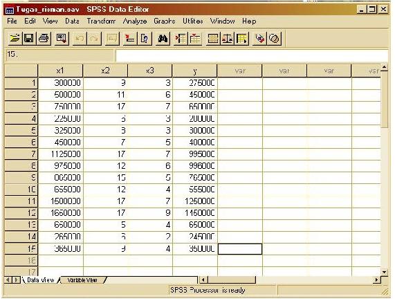 Albarublogs contoh analisis multiple regresi menggunakan spss setelah kita mengisikan data pada spss editor ikuti langkah berikut 1 klik pada analyze pada bagian menu lalu pilih regression dan kemudian pilih linear ccuart Images