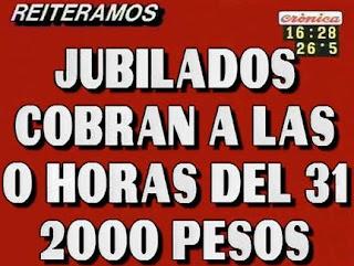 IPAUSS paga hasta 2000 pesos a las 0