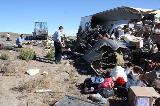 Camion de Ushuaia protagoniza accidente