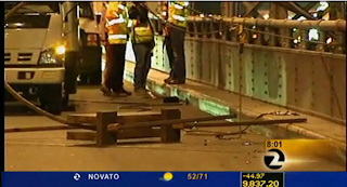 San Francisco Bay Bridge closure parts on deck