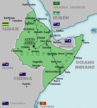 map of ethiopia in africa. Map of Ethiopia around 1880