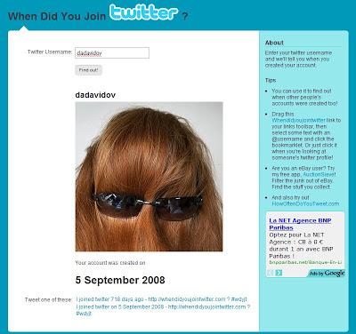 Comment connaitre la date d'ouverture d'un compte twitter ?