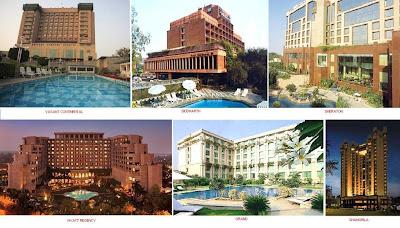 Maurya, Oberoi, Taj Palace, Taj Mahal, Le Meridien