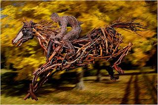 Saltador com cavalos
