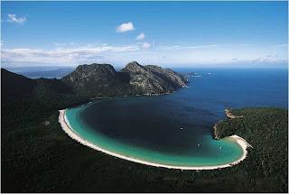 Baia Wineglass na Tasmania, Australia