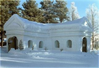 A capela do gelo na Lapónia