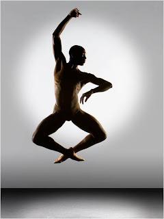 Bailarino - Foto de movimento no ar