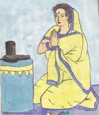 A Worshiping woman