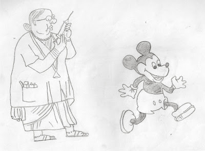 Cartoon: Micky mouse and Lady doctor