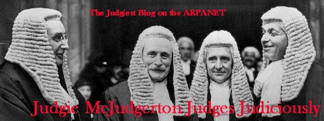 Judgie McJudgerton Judges Judiciously
