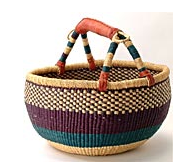 Handwoven Basket from Ghana