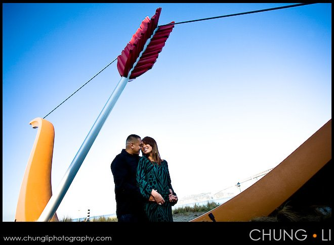 wedding engagement portrait shooting embarcadero