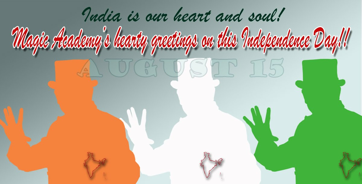 Weekly newsletter from magic academy india independence day greetings independence day greetings m4hsunfo