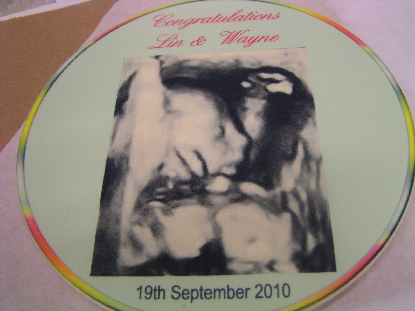 Cake It Sweet Ultrasound Babyshower Cake