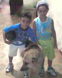 Eu,Rodrigo e Loba...brincávamos muito com ela...saudades