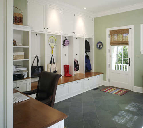 Modern house interior for Mudroom layout