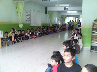 lawatan kerumah anak yatim pelarian rohingya Suasana