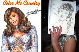fan coloring book from the loretta lynn concert that jen posted on over at the naughty secretary club blog i think this was the first coloring book i