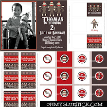 Photo Sock Monkey Invitation and Party Decor