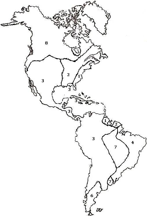 Continente americano para colorear - Imagui