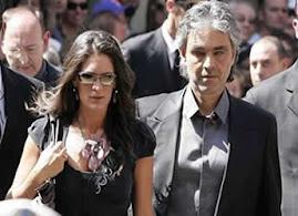 ANDREA BOCELLI Y SU NOVIA LA CANTANTE VERONICA BERTI