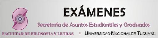 Exámenes en  Filosofía y Letras - unt