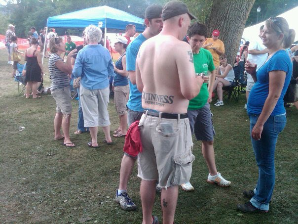 Whole lotta white people running through mud, drinking beer, wearing sweat