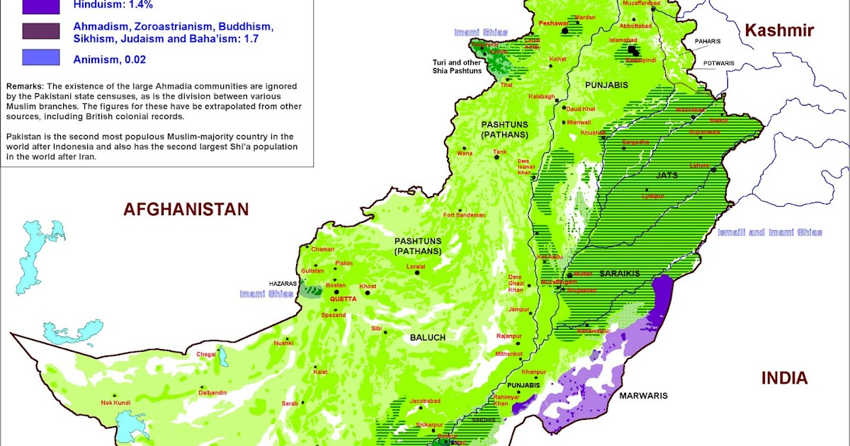 Arthur Zbygniew Pakistan Religion Map - India religion map