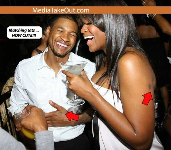 usher and wife.  usher and wife split