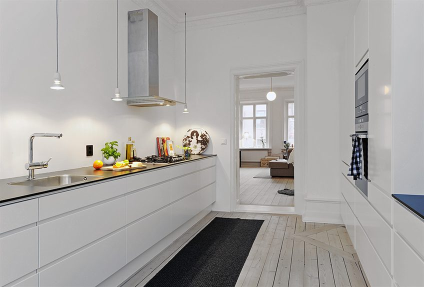 Moderni olohuone ruokailutila, Sisustus - olohuone