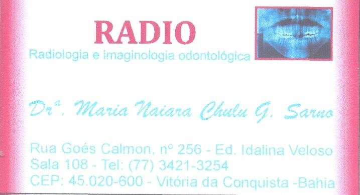 RÁDIO - CLINICA DE RADIOLOGIA ODONTOLÓGICA