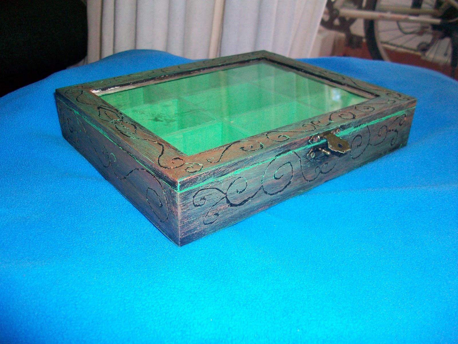 Artesan a y manualidades gir n caja de madera para las - Cajas de madera manualidades ...