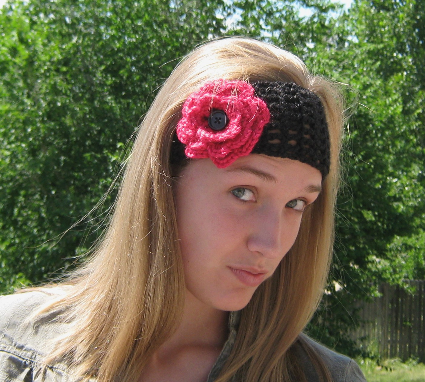 5 daughters: How to crochet a hairband or headband