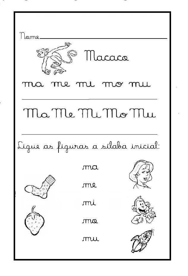 Famosos Simone Alfabetização: Atividades com a letra M YF85