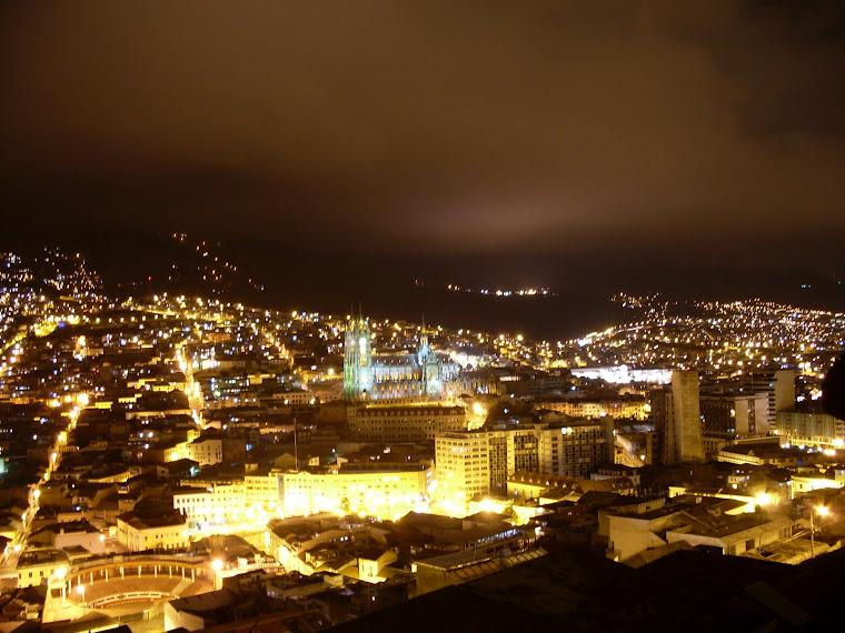 Quito vue du café Mosaico
