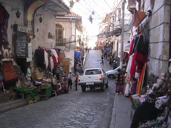 La rue Sagarnaga à La Paz