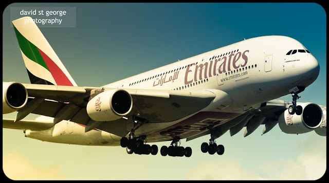 Emirates Airbus A380 desktop wallpaper David St George Photography airliner