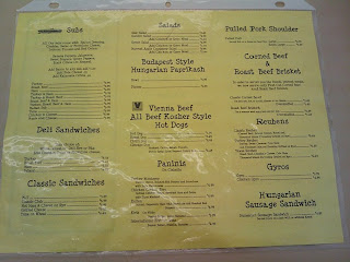 Back of Menu