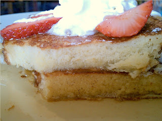 Side Shot of the Chowder House's French Toast