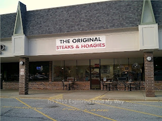Storefront of The Original Steaks and Hoagies in Twinsburg, Ohio