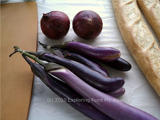Red Onions and Asian Eggplant
