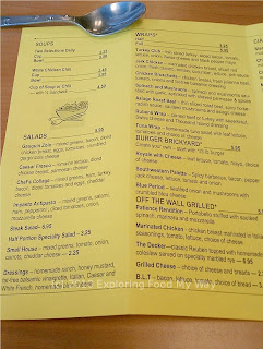 Off The Wall's Menu Page 3