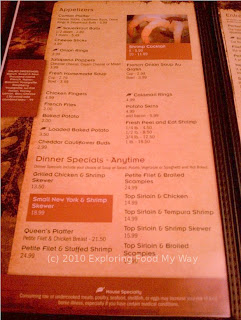 Arnie's Steak House Menu Page 2